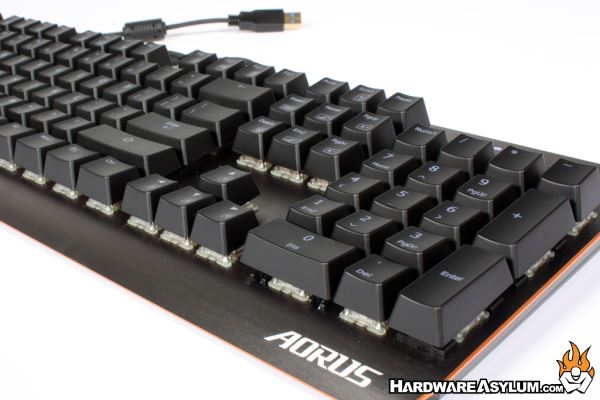 067b21c4dec The Aorus K7 looks a lot like the well regarded XK700 design only subtly  streamlined with an updated brushed grey base. The size is slightly smaller  though ...