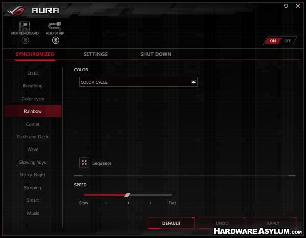 ASUS ROG Maximus X Formula Motherboard Review - ROG Aura LED