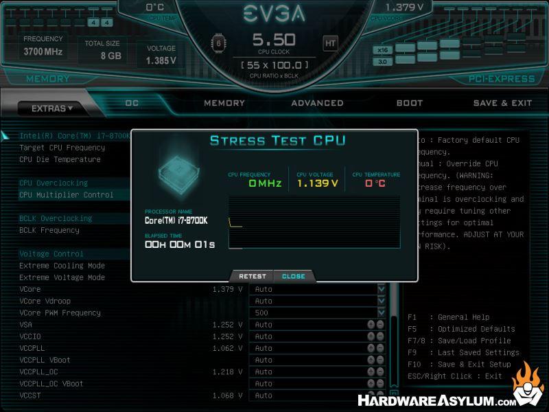 EVGA Z390 Dark Motherboard Review - UEFI Features | Hardware Asylum