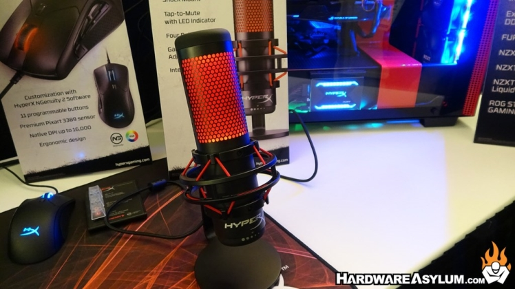 HyperX Gaming QuadCast Desktop Microphone at CES 2019